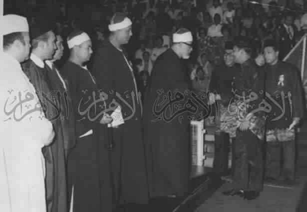محمود خليل الحصرى خلال زيارته لماليزيا